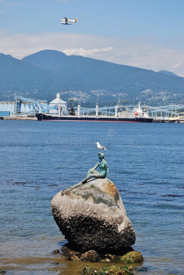 Download Girl In A Wet Suit Sculpture At Stanley Park Editorial Photography - Image: 30004842