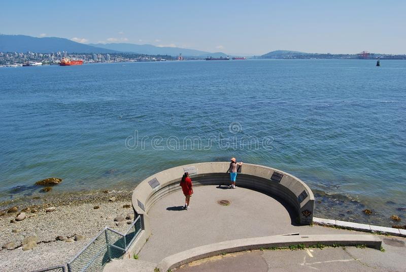 Port of Vancouver at Stanley Park Seawall royalty free stock photography