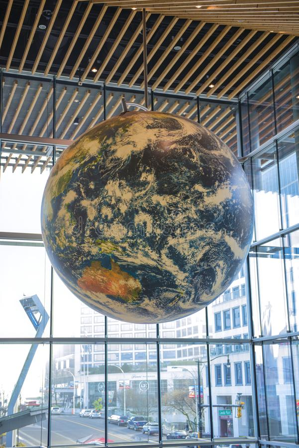VANCOUVER, KANADA - 13. JANUAR 2018: Ansicht des Innenraums des Preises lizenzfreie stockfotografie