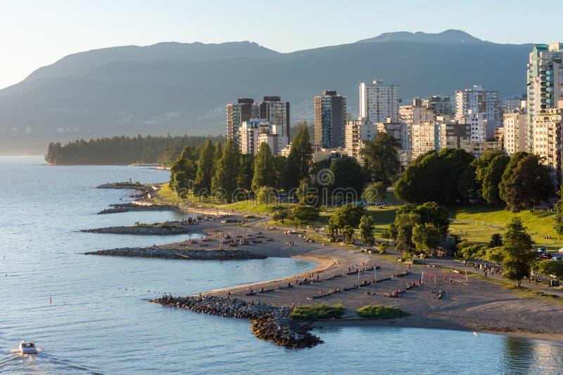 Vancouver, Kanada - 23. Juni 2017: Die englische Bucht und das Vancouver lizenzfreies stockfoto