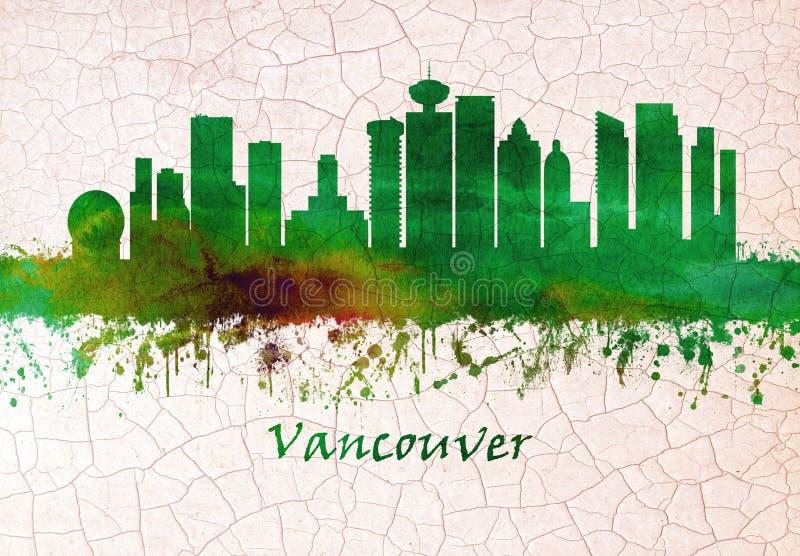 Vancouver Kanada linia horyzontu ilustracja wektor