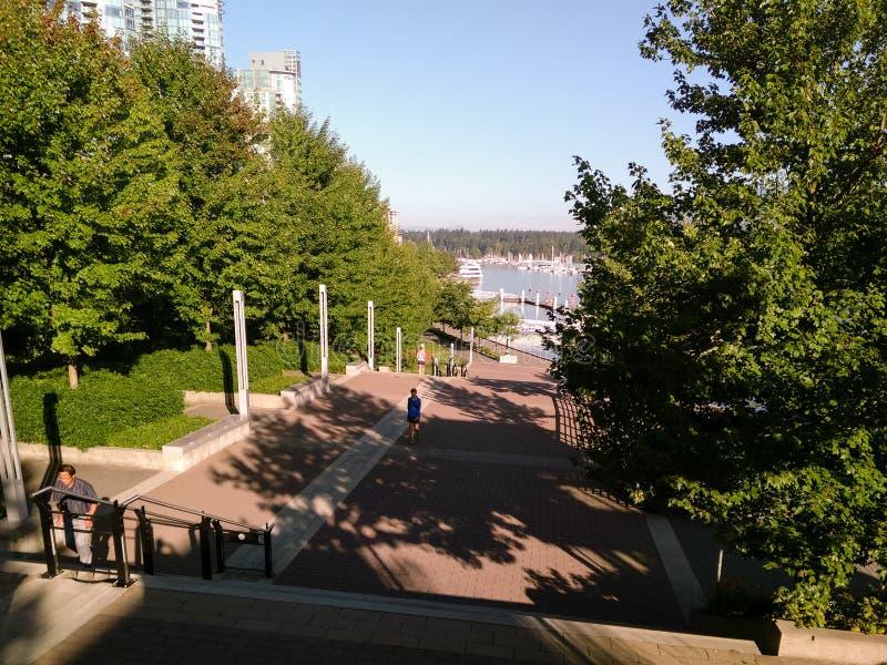 Vancouver Kanada - 2018 Loppfoto av den Vancouver staden, en av de viktiga städerna av Kanada royaltyfria bilder