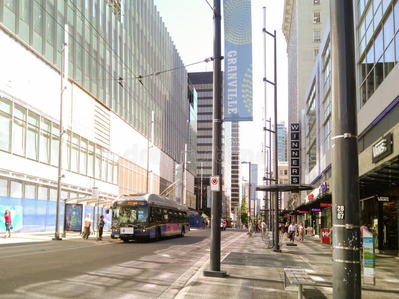 Vancouver Kanada - 2018 Loppfoto av den Vancouver staden, en av de viktiga städerna av Kanada arkivbild