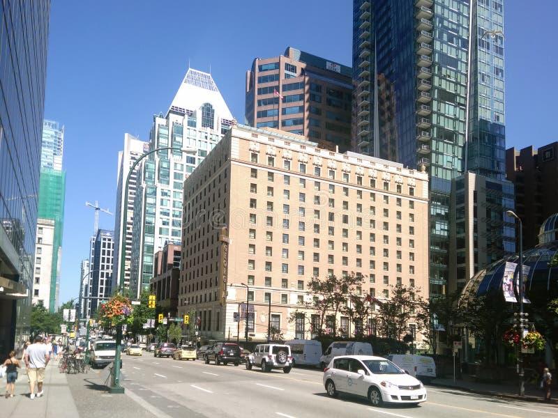 Vancouver Kanada - 2018 Loppfoto av den Vancouver staden, en av de viktiga städerna av Kanada arkivbilder