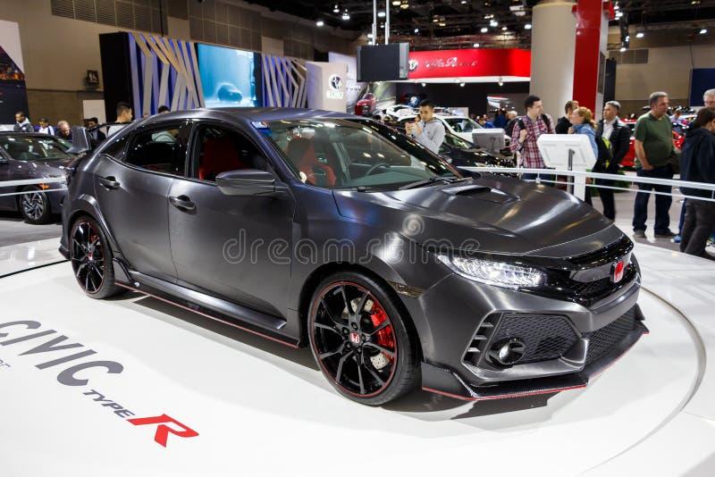 Vancouver, Kanada -, Około 2017: Nowy Honda Civic zdjęcia royalty free