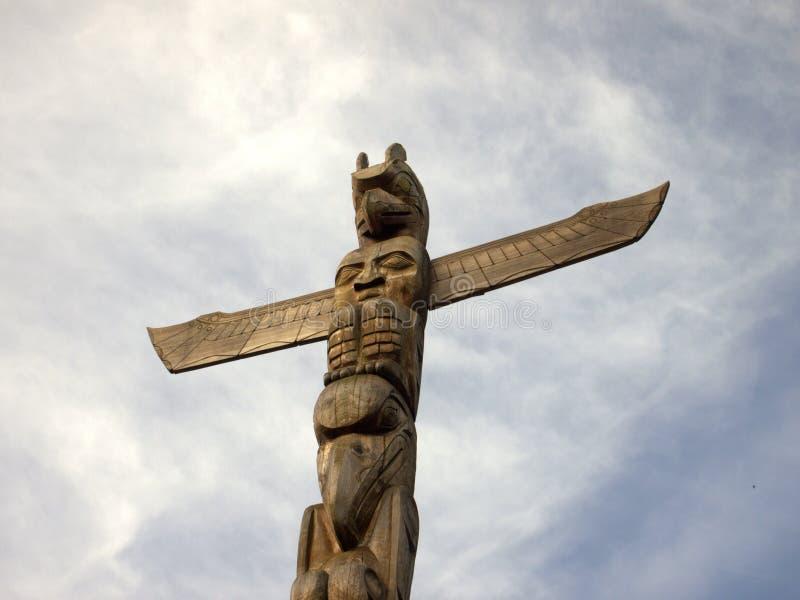 Vancouver, Kanada: Totempfahl lizenzfreie stockfotografie