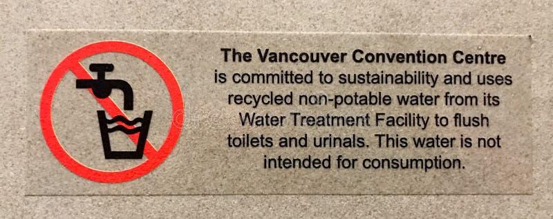 Vancouver konwencji Centre trwałość Podpisuje wewnątrz Vancouver, kolumbia brytyjska obrazy royalty free