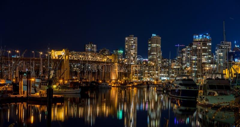 Vancouver la nuit image libre de droits