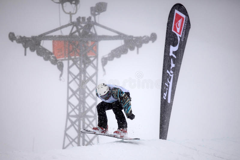 VANCOUVER - MARCH 28: Quiksilver Snowboarding Comp stock images