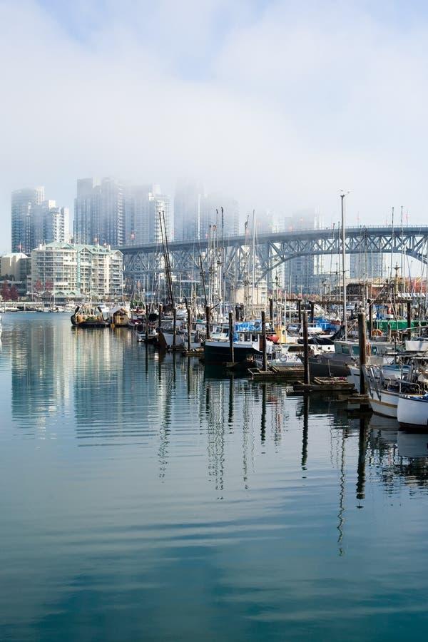 Vancouver mgła. obrazy stock