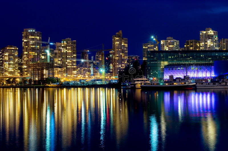 Vancouver moderna fotografia stock