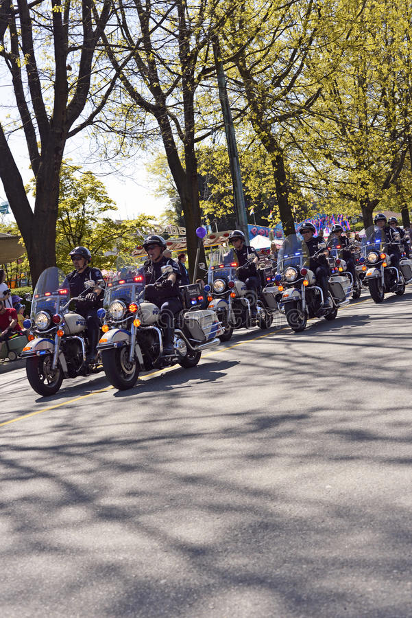 Download Vancouver Motorcycle Police May 2012 Editorial Image - Image: 25244260