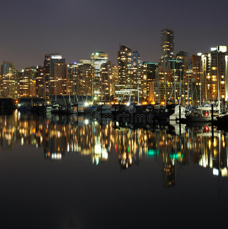 Vancouver night , Canada stock image