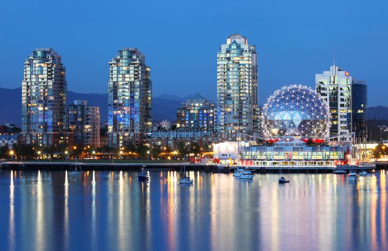 Download Vancouver at night stock image. Image of world, night - 33091371