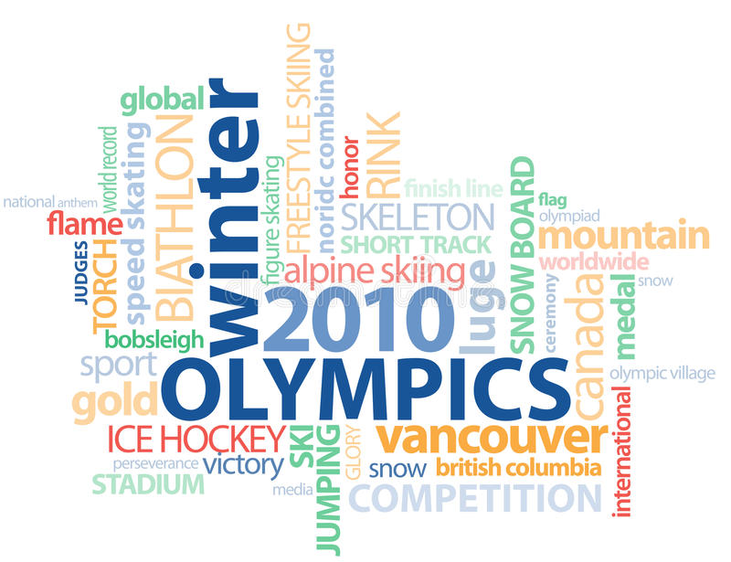 Vancouver Olympics Word GFX outline vector illustration
