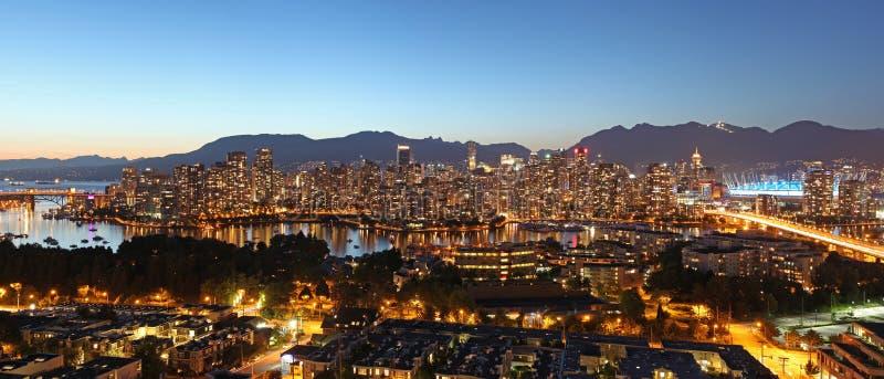 Vancouver panorama zdjęcie royalty free