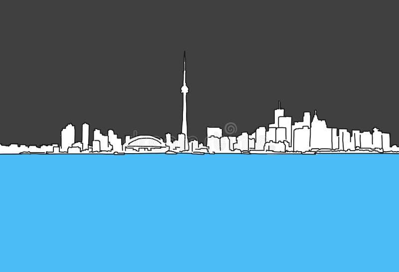 Vancouver panoramy konturu W centrum nakreślenie royalty ilustracja