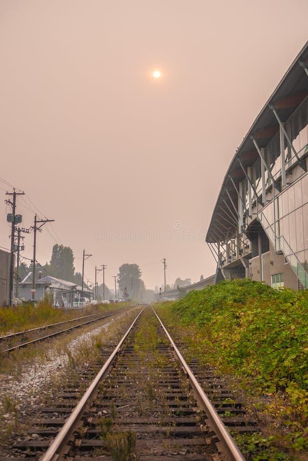 Vancouver podczas pożarów BC zdjęcie royalty free