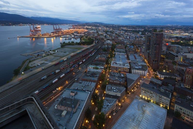 Vancouver portområde royaltyfri fotografi