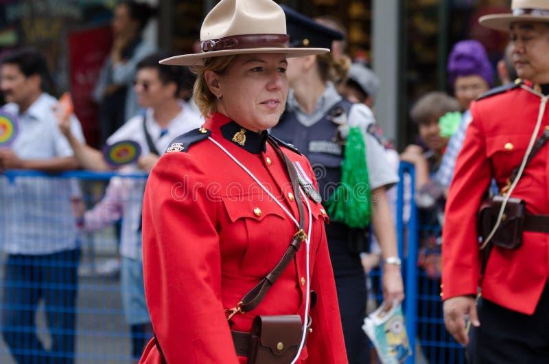 2016 Vancouver Pride Parade in Vancouver, Canada stock foto's