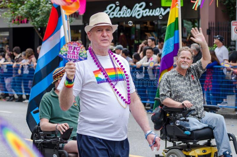 Vancouver 2016 Pride Parade in Vancouver, Kanada lizenzfreie stockfotografie