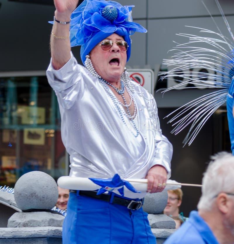 Vancouver 2016 Pride Parade in Vancouver, Kanada lizenzfreies stockbild
