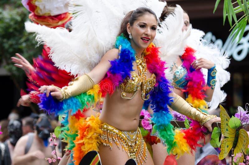 Vancouver 2016 Pride Parade in Vancouver, Kanada stockbild