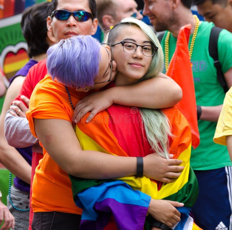 Vancouver 2016 Pride Parade in Vancouver, Kanada lizenzfreie stockbilder