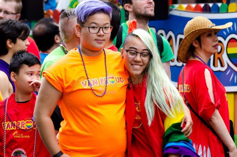 Vancouver 2016 Pride Parade in Vancouver, Kanada lizenzfreie stockfotos