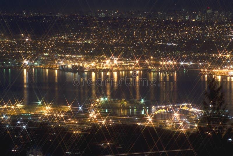 Vancouver przy noc zdjęcie royalty free