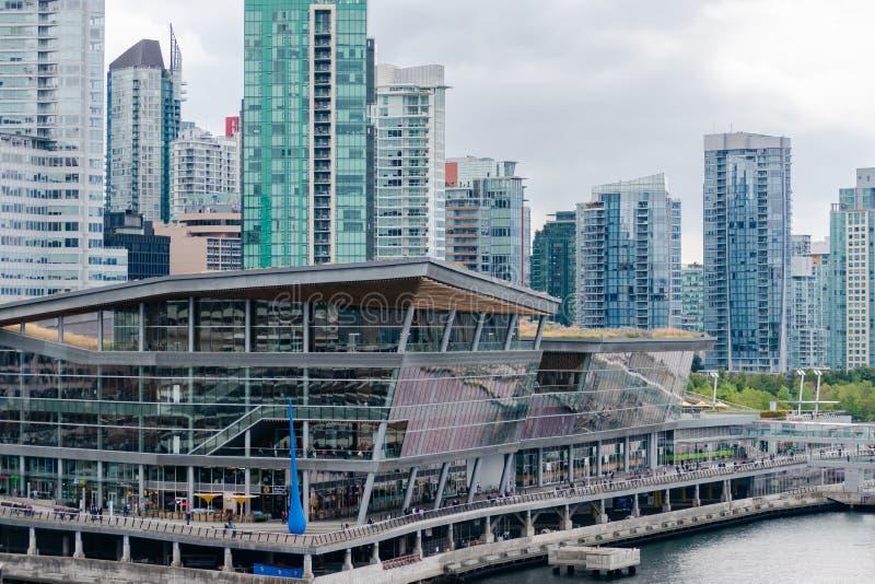 Vancouver regelmitt med i stadens centrum stadshorisont arkivfoto