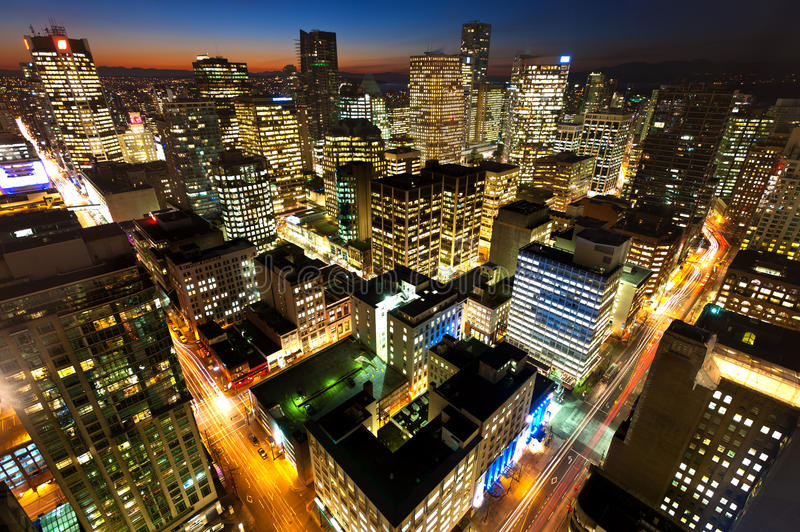 Vancouver's Downtown Core - Vancouver, Canada. This image shows Vancouver's Downtown Core - Vancouver, Canada stock images