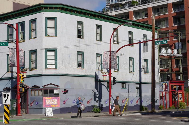 Vancouver's oldest residential neighbourhood stock photo