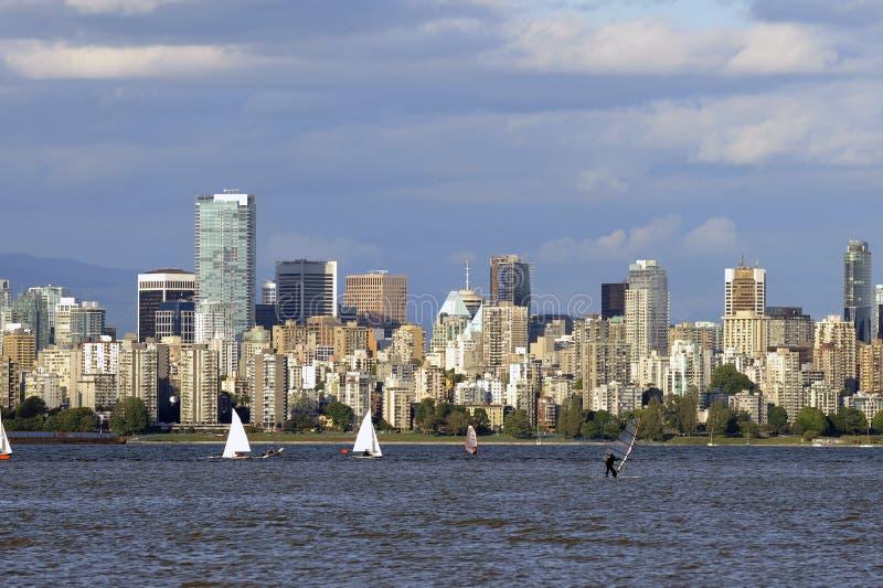Vancouver skyline royalty free stock photos