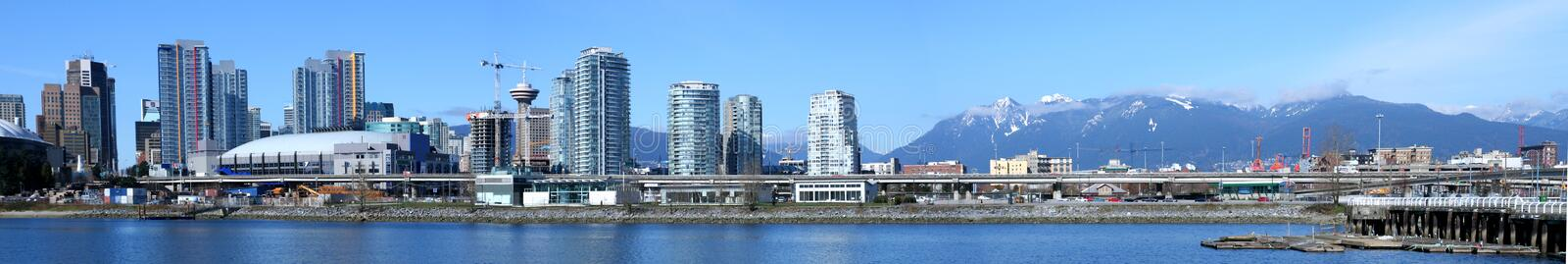 Vancouver Skyline. The Vancouver skyline from the south royalty free stock photos