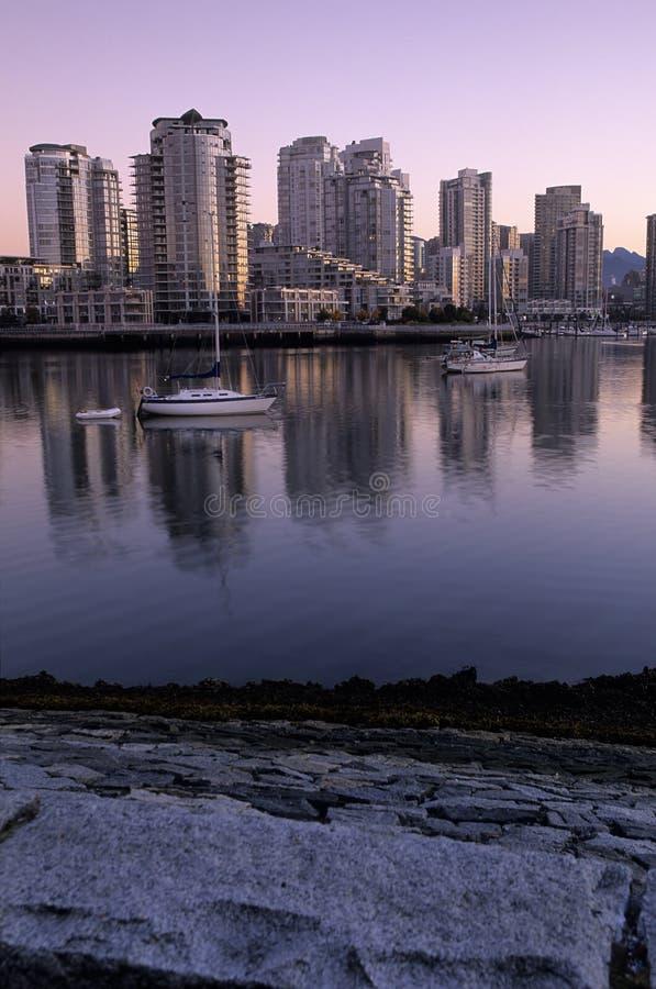 Vancouver Skyline At Dawn- Canada Stock Photos