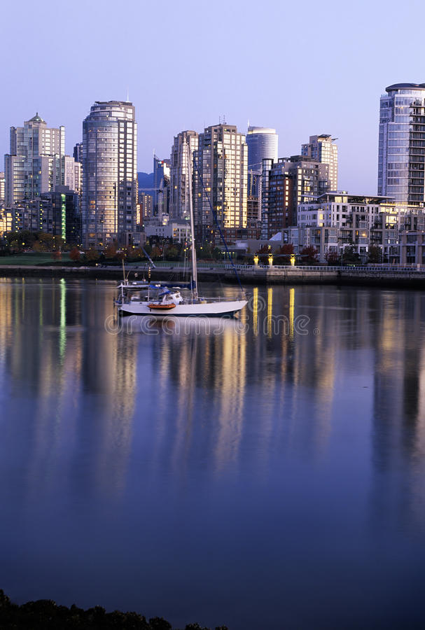 Download Vancouver Skyline At Dawn- Canada Stock Image - Image: 12221953