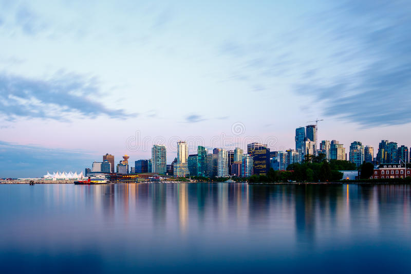 Vancouver Skyline at Sunset stock image