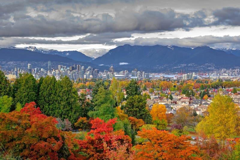 Vancouver-Stadtansicht in einen Herbst lizenzfreies stockfoto