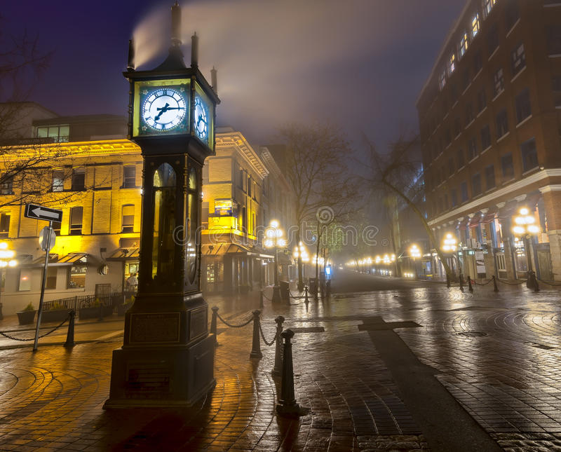 Vancouver Steam Clock. Steam clock in Gastown Vancouver royalty free stock images