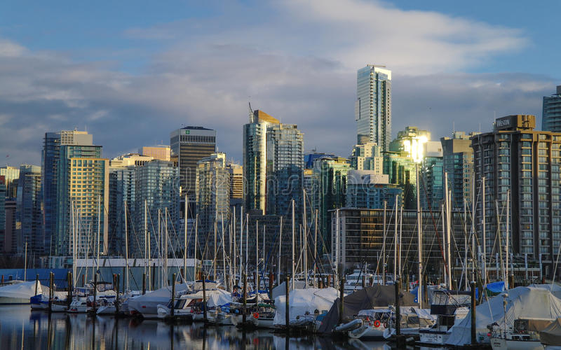 Vancouver Sunset royalty free stock images
