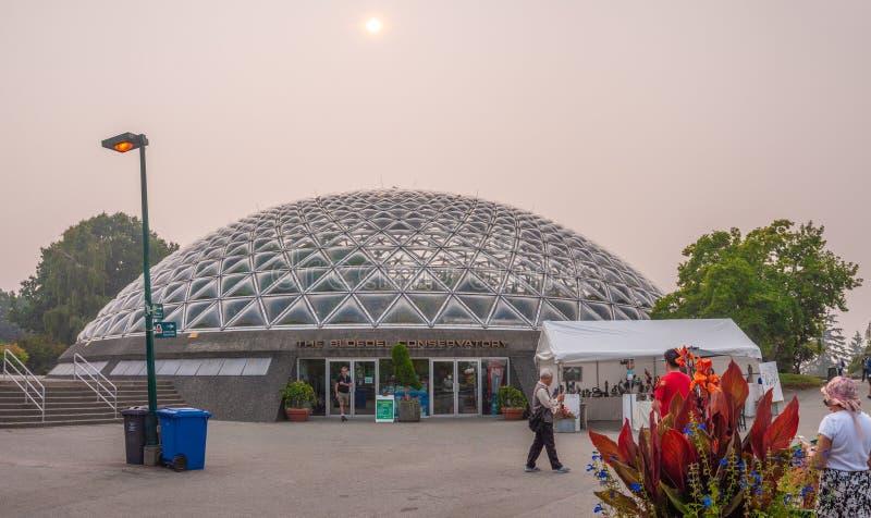 Vancouver tijdens BC Wildfires royalty-vrije stock afbeeldingen
