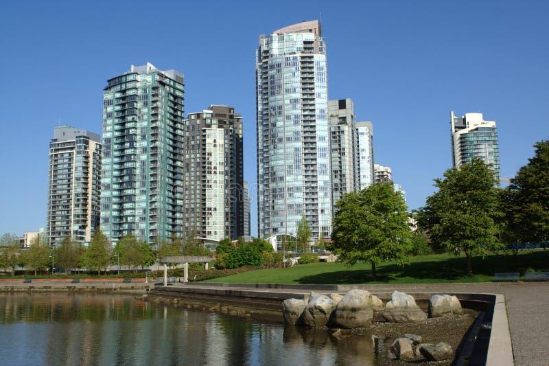 Vancouver Towers, False Creek stock photos