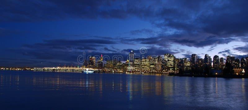 Vancouver twilght royalty-vrije stock afbeelding