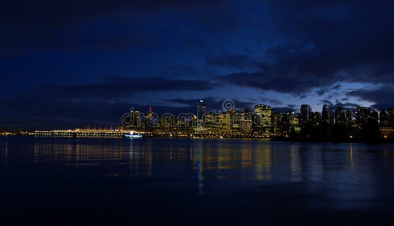 Download Vancouver Twilight stock photo. Image of canada, skyline - 4154034