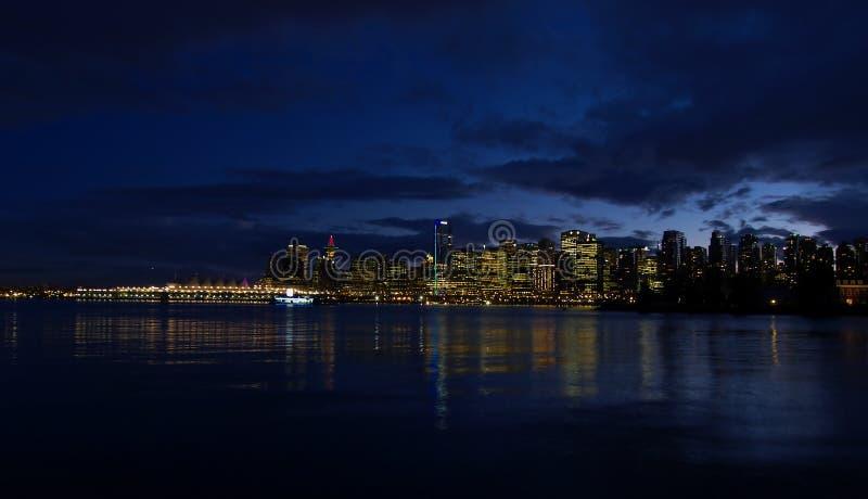 Vancouver twilight obrazy stock