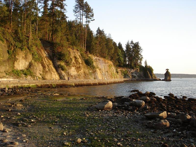 Vancouver-Uferdamm-Promenaden-Stanley-Park stockfotografie