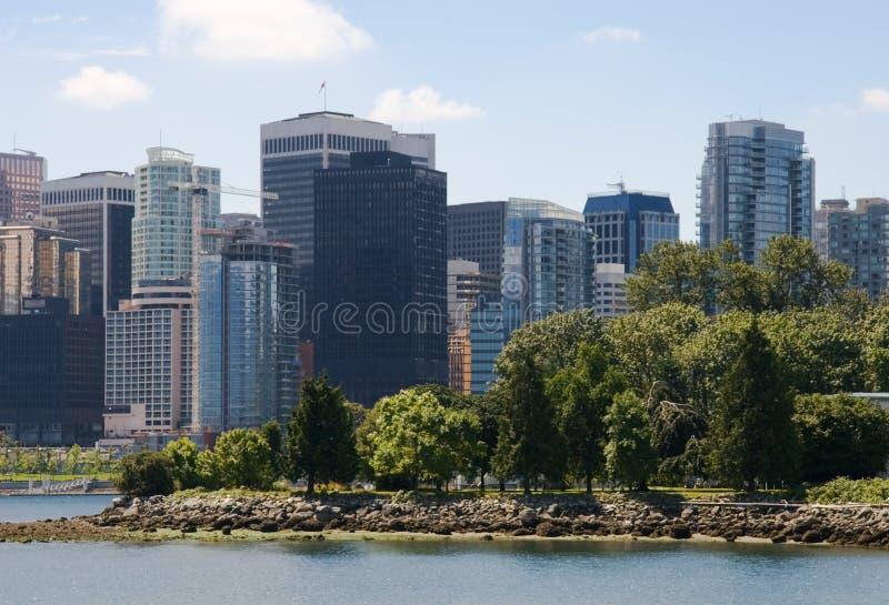 Vancouver van de binnenstad stock foto's