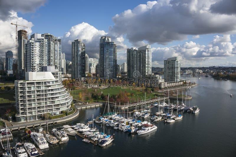 Vancouver van de binnenstad royalty-vrije stock foto's