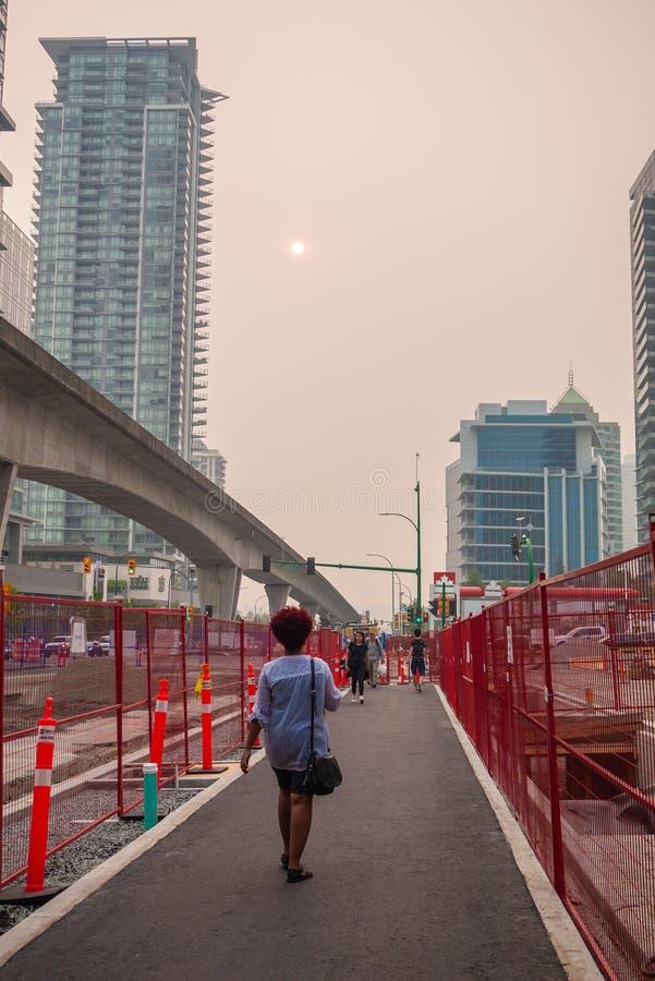 Vancouver während der BC verheerenden Feuer stockfotos